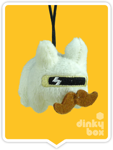 "WINDOW BOXED : Kidrobot x Frank Kozik  3"" White Crazy Labbit Plush - moosedinky"