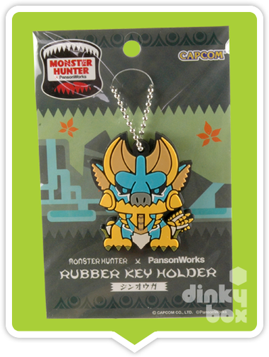 "CARDED Capcom x PansonWorks Monster Hunter : 4"" Jinoga Rubber Key Holder - moosedinky"