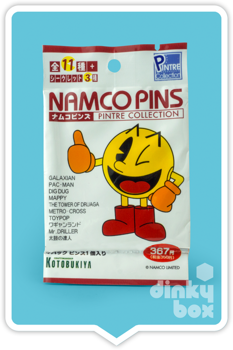 "OPEN PACKAGED Namco Pintre Collection Vol.1 Enamel Pin : 1"" Toypop (complete with all original packaging) - moosedinky"