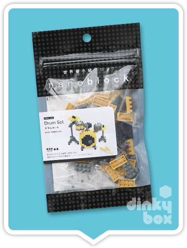 Nanoblock Drum Set Japanese Packaging