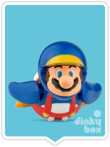 "OPEN GASHAPON BALL Nintendo Super Mario : 2"" Mario (in pengine disguise) Pull Back & Go Mini Figure - moosedinky"
