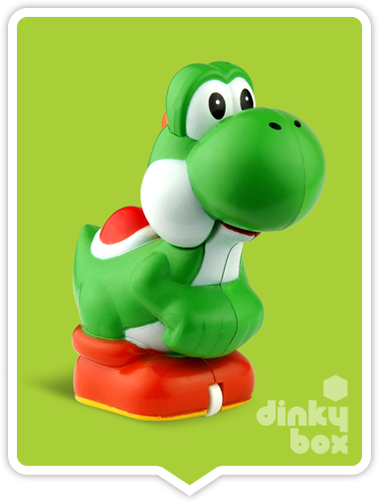 "OPEN GASHAPON BALL Nintendo Super Mario : 2"" Yoshi Pull Back & Go Mini Figure - moosedinky"