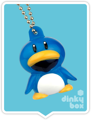 OPEN GASHAPON BALL Nintendo / Bandai Super Mario Bros. Light-Up : Penguin Suit Keychain Charm (Battery Operated) - moosedinky