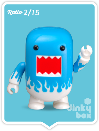 "OPEN BOX Toy2R Domo S4 Qee : 2"" Icey Blue mini figure 2/15 (complete with all original packaging) - moosedinky"