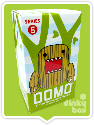 "OPEN BOX Toy2R Domo S5 Qee : 2"" Brick Wall mini figure 1/15 (complete with all original packaging) - moosedinky"