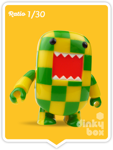 "OPEN BOX Toy2R Domo S5 Qee : 2"" Checkerboard mini figure 1/30 (complete with all original packaging) - moosedinky"