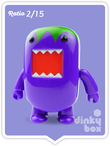 "OPEN BOX Toy2R Domo S5 Qee : 2"" Purple Eggplant mini figure 2/15 (complete with all original packaging) - moosedinky"