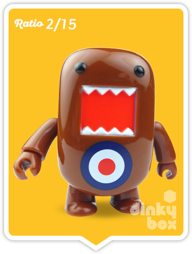 "OPEN BOX Toy2R Domo S5 Qee : 2"" Target mini figure 2/15 (complete with all original packaging) - moosedinky"