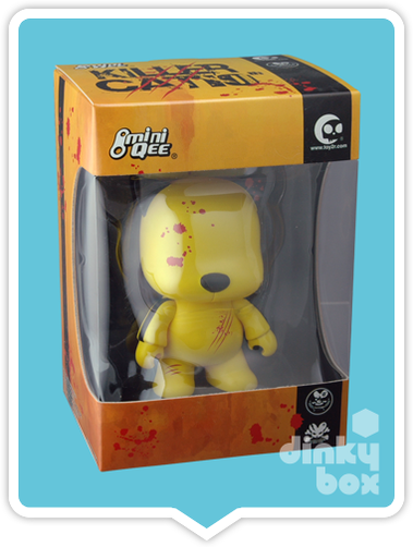 "WINDOW BOXED Toy2R Special Edition Qee : 5"" Danny Chan 10th Anniversary Killer Cat mini figure - moosedinky"