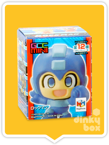"OPEN BOX Capcom x Megahouse Rockman / Mega Man : 1.5"" GCC Rockman (Skull) Mascot Charm (complete with all original packaging) - moosedinky"