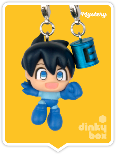 "OPEN BOX Capcom x Megahouse Rockman / Mega Man : 1.5"" GCC Energy CHASE Mascot Charm (complete with all original packaging) - moosedinky"