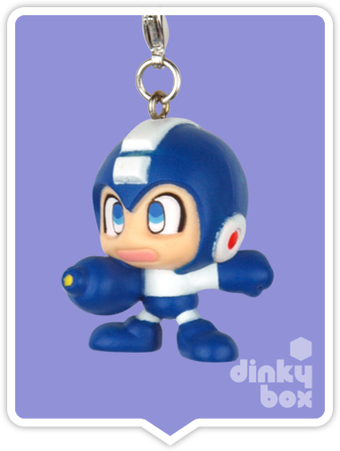 "OPEN BOX Capcom x Megahouse Rockman / Mega Man : 1.5"" GCC Rockman (Air) Mascot Charm (complete with all original packaging) - moosedinky"