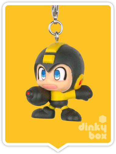 "OPEN BOX Capcom x Megahouse Rockman / Mega Man : 1.5"" GCC Thunder Mascot Charm (complete with all original packaging) - moosedinky"