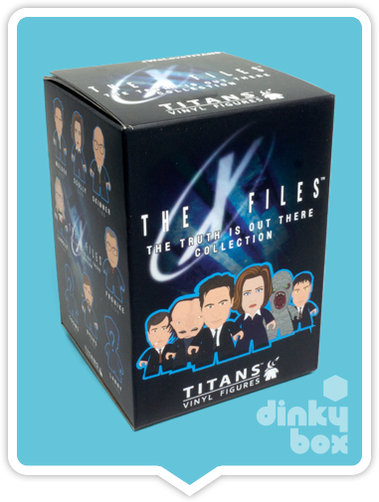 Titans X-Files blind box vinyal figure available to purchase in the UK via your friendly dinkybox store. If purchasing more than one blind box, duplicates may occur.