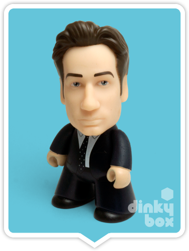 Titans X-Files Mulder vinyl figure available to purchase in the UK via your friendly dinkybox store.