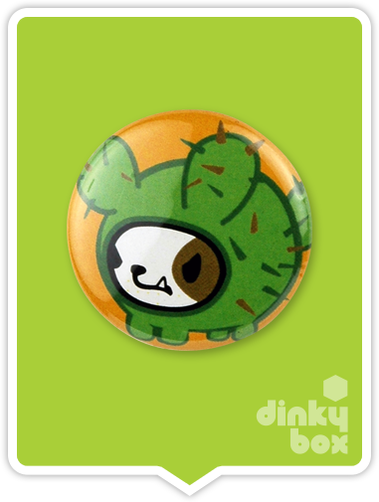 "LOOSE Badge Bomb Tokidoki Pin (Button Badge) : 1"" Bastardino Cactus Pup 1555 (includes sharp metal pin for attaching to clothes) 15yrs + - moosedinky"