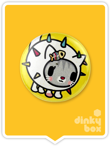 "LOOSE Badge Bomb Tokidoki Pin (Button Badge) : 1"" Carina Cactus 1569 (includes sharp metal pin for attaching to clothes) 15yrs + - moosedinky"
