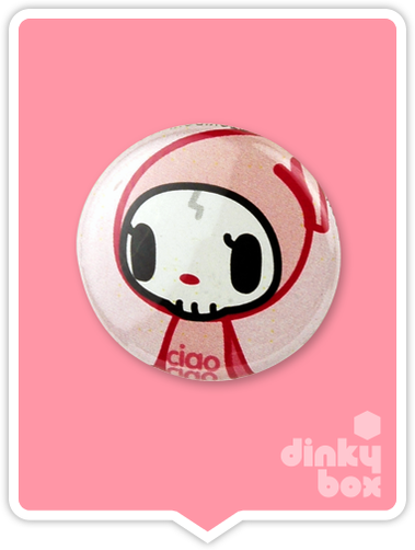 "LOOSE Badge Bomb Tokidoki Pin (Button Badge) : 1"" Ciao Ciao 1567 (includes sharp metal pin for attaching to clothes) 15yrs + - moosedinky"