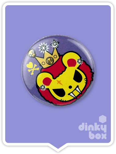 "LOOSE Badge Bomb Tokidoki Pin (Button Badge) : 1"" Lion Papa 1557 (includes sharp metal pin for attaching to clothes) 15yrs + - moosedinky"