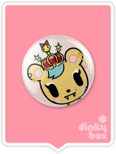 "LOOSE Badge Bomb Tokidoki Pin (Button Badge) : 1"" Savanah 1554 (includes sharp metal pin for attaching to clothes) 15yrs + - moosedinky"