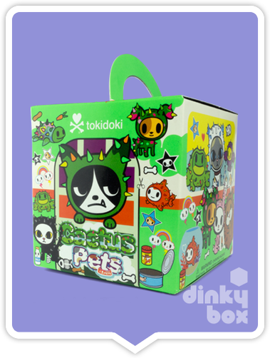"OPEN BOX Tokidoki Cactus Pets S1 : 3"" Speedy Turtle (complete with all original packaing) - dinkybox"
