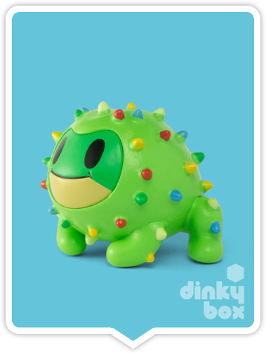 "OPEN BOX Tokidoki Cactus Pets S1 : 3"" Roger Frog (complete with all original packaging) - moosedinky"