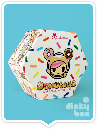 "OPEN BOX Tokidoki Donutella S1 : 3"" Donutino mini figure (complete with all original packaging) - moosedinky"