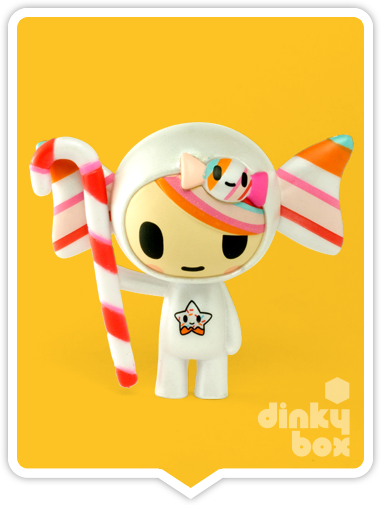 "OPEN BOX Tokidoki Donutella S1 : 3"" Caramella mini figure (complete with all original packaging) - moosedinky"