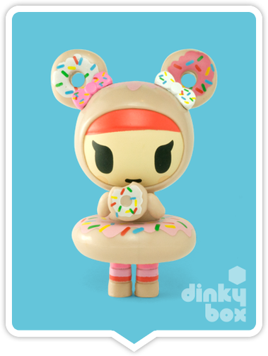 "OPEN BOX Tokidoki Donutella S1 : 3"" Donutini mini figure (complete with all original packaging) - moosedinky"