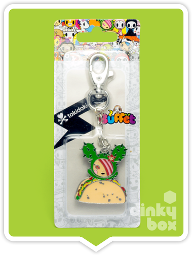 "CARDED Tokidoki Buffet Keychain : 2"" Cactus Friends Sandy Taco - moosedinky"
