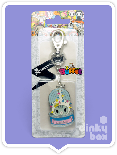 "CARDED Tokidoki Buffet Keychain : 2"" Cactus Friends Carina Cat and Tuna Can - moosedinky"