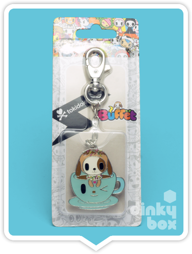 "CARDED Tokidoki Buffet Keychain : 2"" Dontella & Her Sweet Friends Donutino Hot Cocoa - moosedinky"