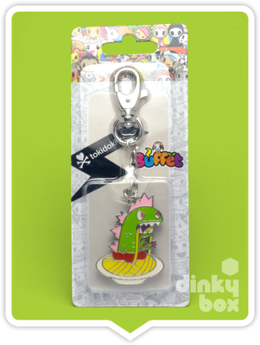 "CARDED Tokidoki Buffet Keychain : 2"" Kaiju Monster with Oddles of Noodles - moosedinky"