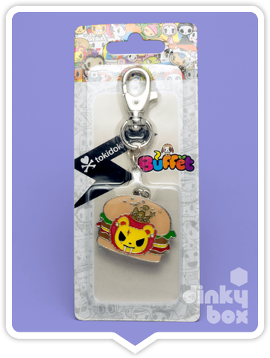 "CARDED Tokidoki Buffet Keychain : 2"" Royal Pride Lion Papa Hamburger - moosedinky"