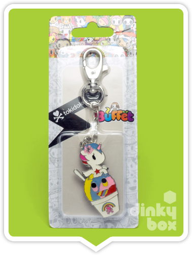 "CARDED Tokidoki Buffet Keychain : 2"" Unicorno Shaved Ice - moosedinky"