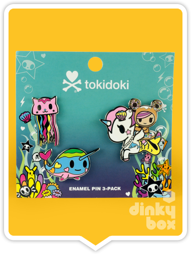 "CARDED Tokidoki Enamel Pin : 2"" Sea Punk Trio 15yrs+ - moosedinky"