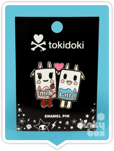 "CARDED Tokidoki Enamel Pin : 2"" Moofia Milk & Latte Duo 15yrs+ - dinkybox"