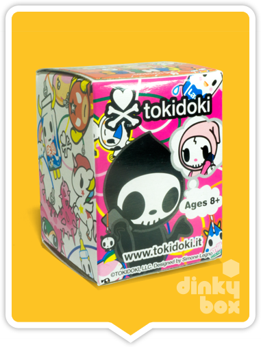 "OPEN BOX Tokidoki Classic Frenzies : 1"" Til' Death Do Us Part Skeletrino charm (complete with all original packaging) - moosedinky"