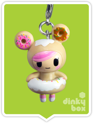 "OPEN BOX Tokidoki Classic Frenzies : 1"" Donutella charm (complete with all original packaging) - moosedinky"