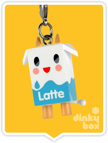 "OPEN BOX Tokidoki Classic Frenzies : 1"" Moofia Latte charm (complete with all original packaging) - moosedinky"