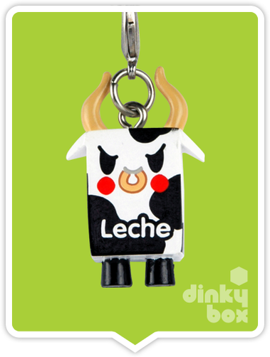 "OPEN BOX Tokidoki Classic Frenzies : 1"" Moofia Leche charm (complete with all original packaging) - moosedinky"