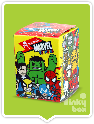 "OPEN BOX Tokidoki Marvel Frenzies : 1"" Punisher charm (complete with all original packaging) - moosedinky"