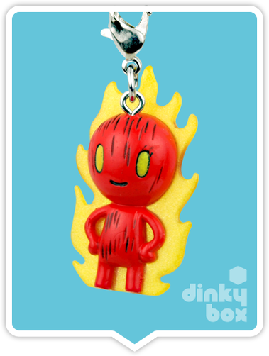 "OPEN BOX Tokidoki Marvel Frenzies : 1"" The Human Torch charm (complete with all original packaging) - moosedinky"