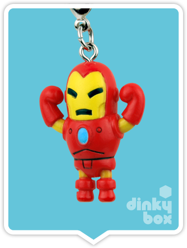 "OPEN BOX Tokidoki Marvel Frenzies : 1"" Iron Man charm (complete with all original packaging) - moosedinky"