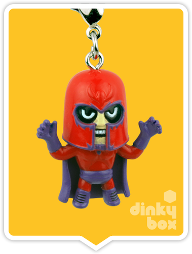 "OPEN BOX Tokidoki Marvel Frenzies : 1"" Magneto charm (complete with all original packaging) - moosedinky"