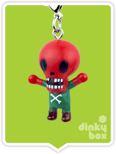 "OPEN BOX Tokidoki Marvel Frenzies : 1"" Red Skull charm (complete with all original packaging) - moosedinky"