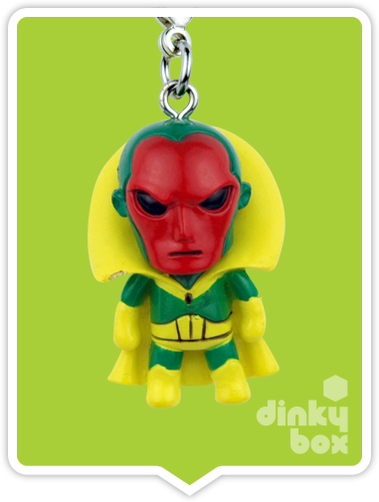 "OPEN BOX Tokidoki Marvel Frenzies : 1"" Vision charm (complete with all original packaging) - moosedinky"