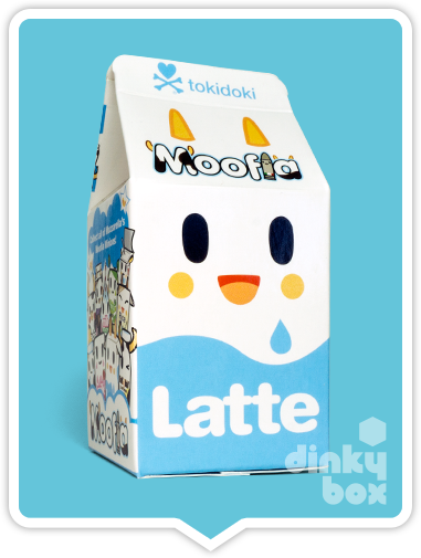 Tokidoki Moofia S1, blind boxed packaging - beautifully design to look exactly like a very adorable milk carton.