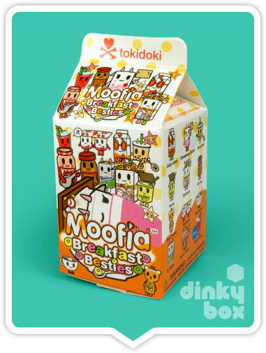 "OPEN BOX Tokidoki Breakfast Moofia : 3"" Strawberry Selfie (complete with all original packaging) - moosedinky"