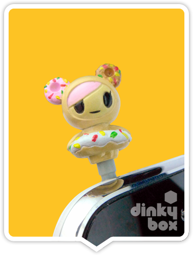 "OPEN PACKAGE Tokidoki Phonezies : 1"" Donutella phone charm (complete with all original packaging) - moosedinky"